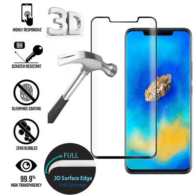 For Huawei Mate 20 Pro Full Coverage 3D Curved Screen Tempered Glass Protector
