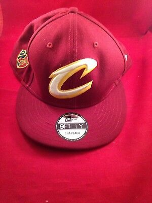 5919c9a1a494b0 Cleveland Cavaliers New Era Basic Wine Gold Snapback 9Fifty Authentic Hat