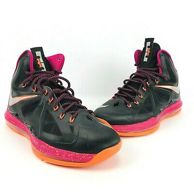 new arrival 26cbc ca8be Nike Air Max LeBron X Floridian Black Silver Orange Fireberry 541100-005  Men 11