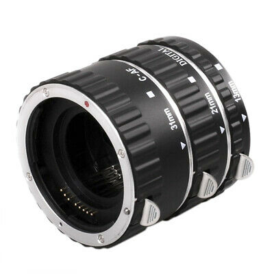 Metal Auto Focus AF Macro Extension Tube Lens Adapter Ring for Canon EOS BL