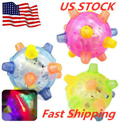 Pet Dog Cat Flashing Ball Toy For Games LED Pet Play Chew Toys Jumping Joggle