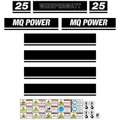 Multi Quip DCI 25SS 25KVA  Aftermarket Decals Stickers