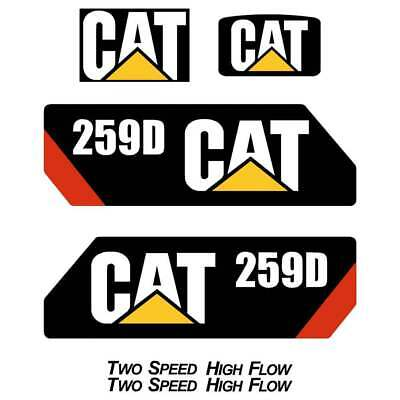 CAT 259D Decals Stickers Repro Kit