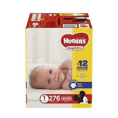 fits 12-18 lbs. HUGGIES Snug Dry Baby Diapers Size 2 246 Count ECONOMY PL