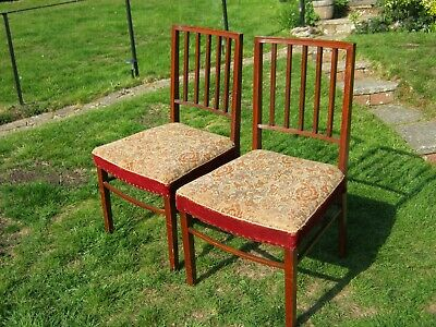 A Pair of William IV Mahogany Stick Back Dining Chairs