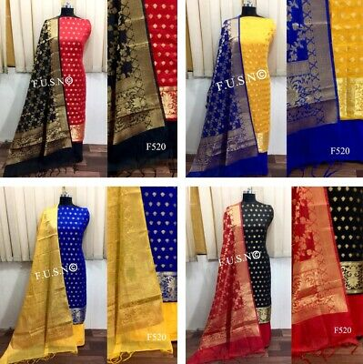 Other Women's Clothing Clothing, Shoes & Accessories Exclusive Salwar Kameez Unstitch Dress Material Indian Wedding Trendy Bollywood