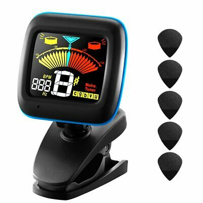 LCD Clip-on Electronic Digital Guitar Tuner for Chromatic Violin Ukulele Bass AU