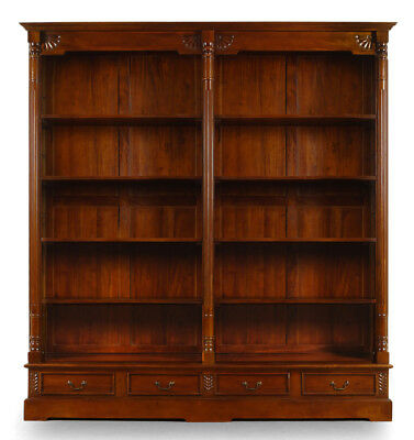 New model OPENFRONT LIBRARY top quality bookcase mahogany solid wood 78346
