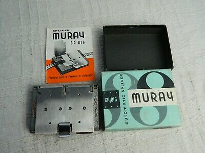 Vintage Muray CA 816 Automatic Film Reel Splicer Boxed w/ Instructions
