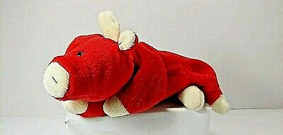 "TY BEANIE BABIES SNORT THE RED BULL RETIRED RARE NO HEART TAG 1995 9 1/2"" 23cm"