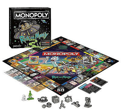 NEW Rick & Morty Series Themed Classic Monopoly Board Game ~ GameStop Exclusive