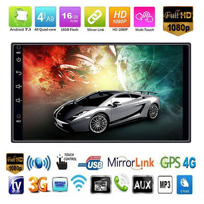 """7"""" Android 7.1 Bluetooth Car Navigation Stereo 2-DIN In Dash Radio MP5 WIFI GPS"""