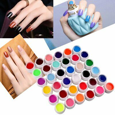 36 Couleur LED UV Gel de Construction Finition Faux Ongle Extension Nail Art Kit