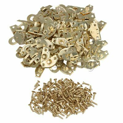 50pcs Yellow Metal Padlock Hasp Jewelry Box Buckle Shackle Lock 21 x 20mm