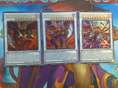 Hot Red Dragon Archfiend Abyss + Bane + King Calamity Ultra Rare DUPO Yu-Gi-Oh!