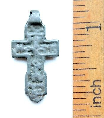 Ancient Russian Orthodox Bronze Cross (NRL05)