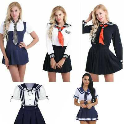 Japanese Schoolgirl Dress Uniform Women's School Sailor Dress Cosplay Costume