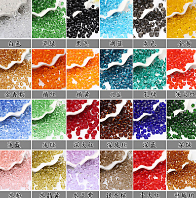 Wholesale 250pcs  6mm bicone crystal glass loose spacer Beads DIY hot