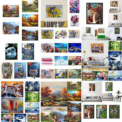 JT_ Landscape DIY Oil Painting By Number Unframed Wall Art Home Office Decor G