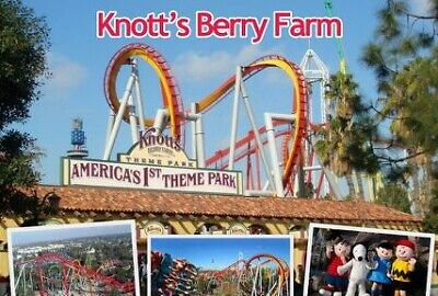 (2) Two Single Day E-Tickets! Knotts Berry Farm or Soak City General Admission