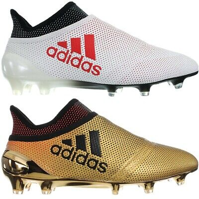 04b3525cd Adidas X17+ PureSpeed FG white or gold Studs prof. soccer boots shoes dry  lawn