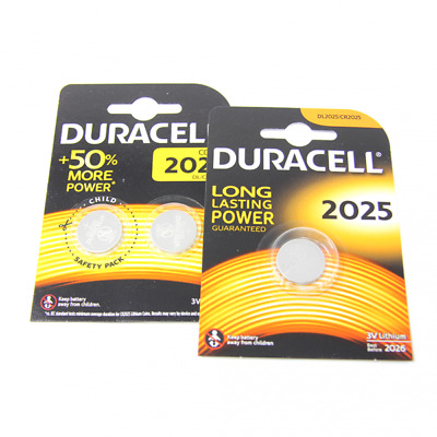 3x Duracell CR2025 3V Lithium Button Battery Coin Cell DL/CR 2025 Exp. 2026 / UK
