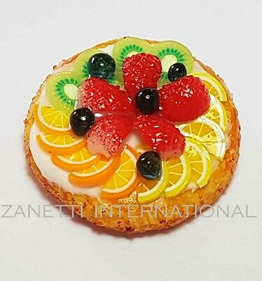 Dollhouse Miniature Orange Fruit Pie *Doll Mini Sweet Food Tart Flan Cake Bakery