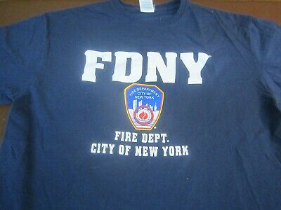 FDNY Shirt T-Shirt Officially Licensed New York City Fire Department  Large  L11