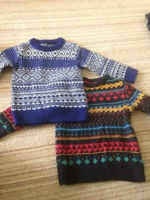 BUNDLE 3 years Boys Clothing NEXT jumpers sweaters tops chunky knit Christmas