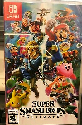 SUPER SMASH BROS. ULTIMATE (Nintendo Switch, 2018)  BRAND NEW FACTORY SEALED