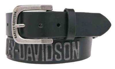 Harley-Davidson® Men's Embossed Highway To Hell Leather Belt, Black, HDMBT10853B