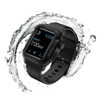 44mm For Apple Watch Series 4 IP68 Waterproof Armor Case Cover Band Strap iWatch