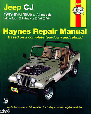 Jeep CJ Workshop Repair Manual 1949-86 Scrambler Renegade Laredo CJ-5 CJ-7 *NEW