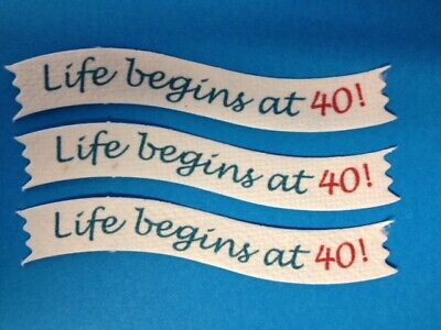 CLEARANCE 25 LIFE BEGINS AT 40 Banners Birthday Card Making Craft Embellishments