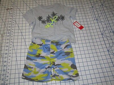 Tea Collection Desert Lizard T Shirt And Cargo Shorts Set 9-12M New With Tags