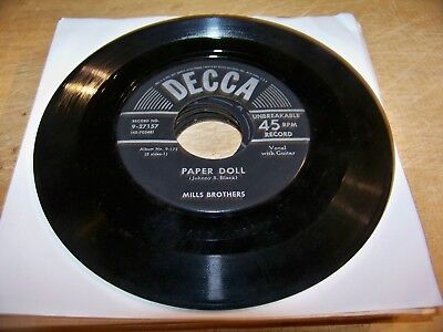 MEGA Lot of (31) Mills Brothers 45s - Various labels