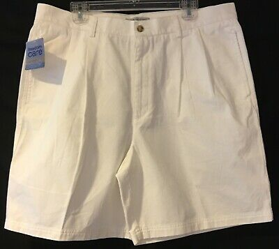 07d5166639 BRAND NEW Mens JOHN ASHFORD Casual Shorts 38 FREEDOM CARE White Pleated  Cotton
