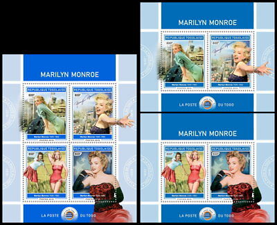 TOGO 2018 MNH (No.1) Marilyn Monroe Cinema Kino Music SET #425ca B