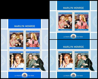 TOGO 2018 MNH (No.2) Marilyn Monroe Cinema Kino Music SET #426ca B