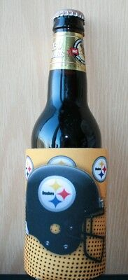 Pittsburgh Steelers 2Fer Can or Bottle Cooler, Coozie Insulator NFL Koozie