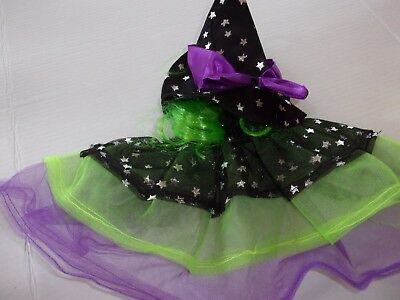 Starry Witch dog costume Petco halloween S/M L/XL with hat tulle tutu
