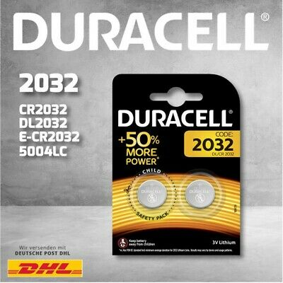Duracell Specialty Lithium-Knopfzellen CR2032 2er Blister CHILD SAFETY PACKS