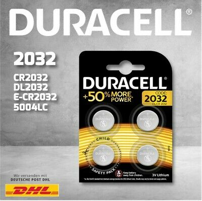 Duracell Specialty Lithium-Knopfzellen CR2032 4er Blister CHILD SAFETY PACKS