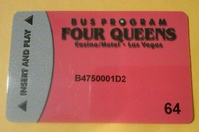Four Queens Casino Las Vegas, Nv. Bus Pass # 64 Slot Card Great For Collection!