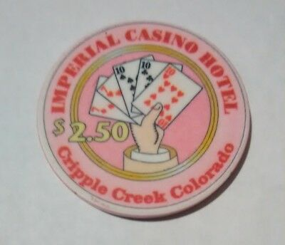 1990's IMPERIAL CASINO CRIPPLE CREEK, COLORADO $2.50 CHIP GREAT FOR COLLECTION!