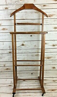 "Mid Century Italian Valet Stand By ""Reguitti"" Modernist Double Wood 1950's"