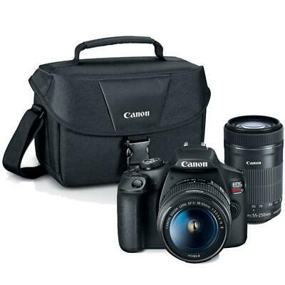 Canon EOS Rebel T7 DSLR Camera with 18-55mm, EF-S 55-250mm IS STM Lens and Bag