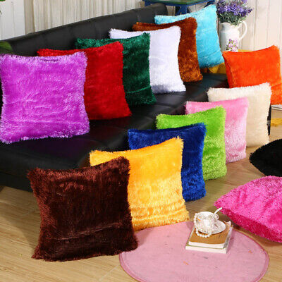 coche Sofa Funda de cojin Invierno caliente Forro de felpa Throw Pillow cases