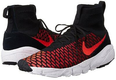 best sneakers 5327d dcd77 Nike Air Footscape Magista Flyknit Men s Shoes Athletic Sneakers, Gym Red  Black
