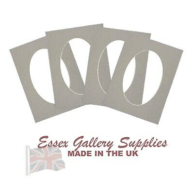 OVAL Picture Frame And Photo Frame Mounts - GREY